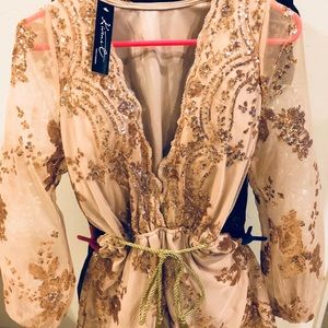 Other - Gorgeous gold sequin romper